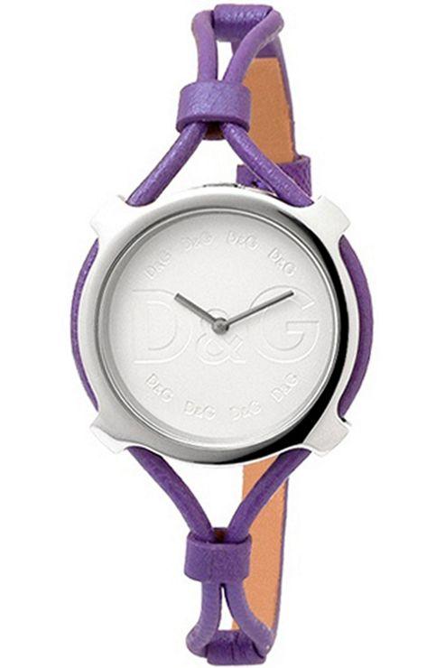 D & G Ladies Lisbon Purple Leather Strap Watch DW0843