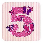 Little Stars Girls 5th Birthday Card