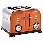 Morphy Richards 44799 Accents 4 Slice Toaster - Orange