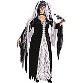 Adult Bride of Darkness Costume (Plus Sized)