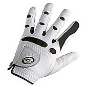 Bionic Mens Deluxe Leather Golf Gloves - White