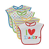 Mothercare I Love Daddy Bibs - 4 Pack
