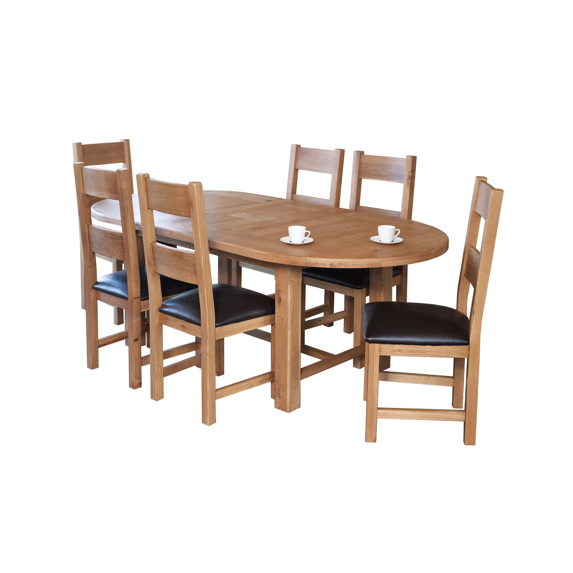 Furniture Link Hampshire 7 Piece Oval Dining Collection