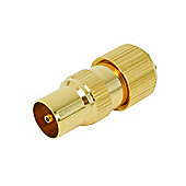Gold Plated Coax Plug