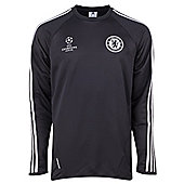 2013-14 Chelsea Adidas EU Training Top (Black) - Black