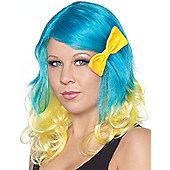 Blue & Yellow Wig