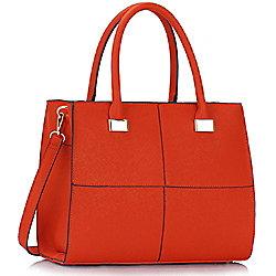 KCMODE Ladies Orange Fashion Tote Handbag