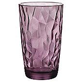 Bormioli Hammered Hiball Glass, Pink