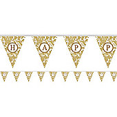 Banners Personalise It Paper Pennant Banner - Gold (each)