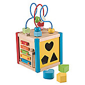 ELC Mini Wooden Activity Cube