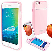 Orzly® 'On the Move' Case for iPhone 6 and 6S with Stand, Card Holder & Mirror - PINK