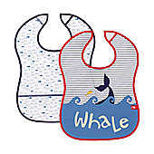 Mothercare Whale Bay Crumb Catcher Bibs - 2 Pack