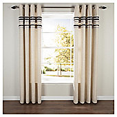 "Linen Lined Eyelet Curtains W112xL137cm (44x54"") - - Black"