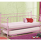 Jessica Day Bed With Trundle - Pink