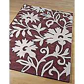 Origin Red Bouquet Chocolate Rug - 150cm x 80cm