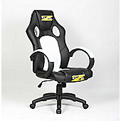 BraZen Shadow PC Gaming Chair - White/Black