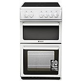 Hotpoint HAE51PS, Freestanding, Electric, 50cm, White, Twin Cavity, Single Oven