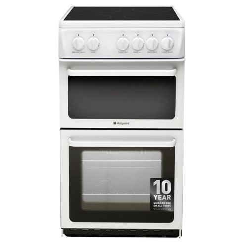 Hotpoint Electric Cooker, HAE51PS, White