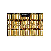 Robin Reed Crackers - Gold Glitter Stars - 8.5 Inch - 8 Pack