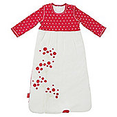 By Carla Long Sleeve Sleeping Bag, Raspberry Bloom 86cm, 6-18 Months