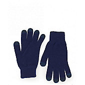 Paul Smith Accessories Bright Wool Touchscreen Gloves - Navy