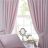 Vantona Renaissance Pink Lined Curtains and Tiebacks 168 x 137 cm
