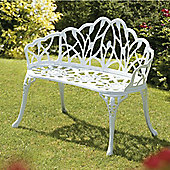 Perth White Cast Bench 95cm