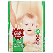 Tesco Loves Baby Ultra Dry - Mini - Size 2 - 58 Pack