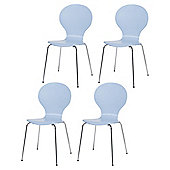 Bistro Set Of 4 Chairs, Sky Blue