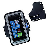 Works With Nokia Armband Pouch for Nokia Lumia 800 - Black