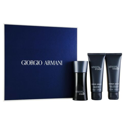 Giorgio Armani Code Eau de Toilette 50ml, Shower Gel 75ml & 75ml aftershave balm