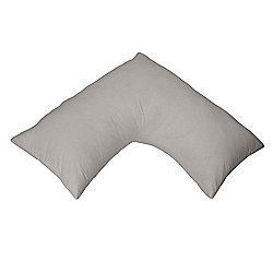 Homescapes Silver Grey Egyptian Cotton V Shaped Pillow Case 200 TC