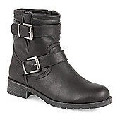Pavers Ankle Boot with Buckles - Black