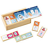 The Snowman Wooden Dominoes