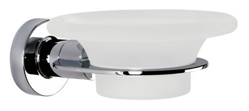 Sonia Tecno Project Glass Soap Dish in Chrome