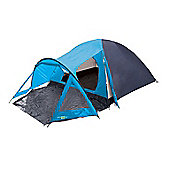 Yellowstone 4 Man Peak Dome Tent with Porch Blue