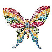 Multi-coloured Mosaic Finish Butterfly Wall Mountable Garden Ornament
