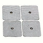 TensPro 4 Pack Small 2mm STUD/SNAP TENS Pads Electrodes with High Conductivity