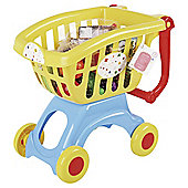 Preschool Play Shopping Trolley And Food
