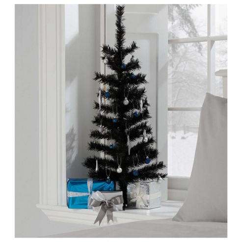 Tesco 3ft Black Christmas Tree