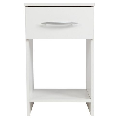 Ashton 1 Drawer Bedside Cabinet White