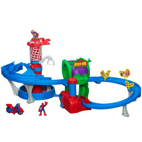 Playskool Heroes Spiderman Web Racing Funhouse