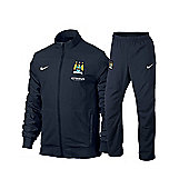 2013-14 Man City Nike Woven Tracksuit (Navy) - Kids - Navy