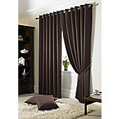 Madison Eyelet Lined Curtains - Brown