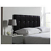 Seetall Sparkle Headboard Black  Faux Suede Double