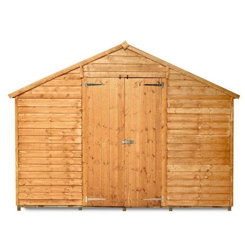 Buy billyoh 400m windowless lincoln overlap double door for Garden shed tesco