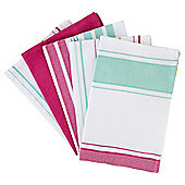 Tesco Brights Dobby Tea Towels, 5 Pack