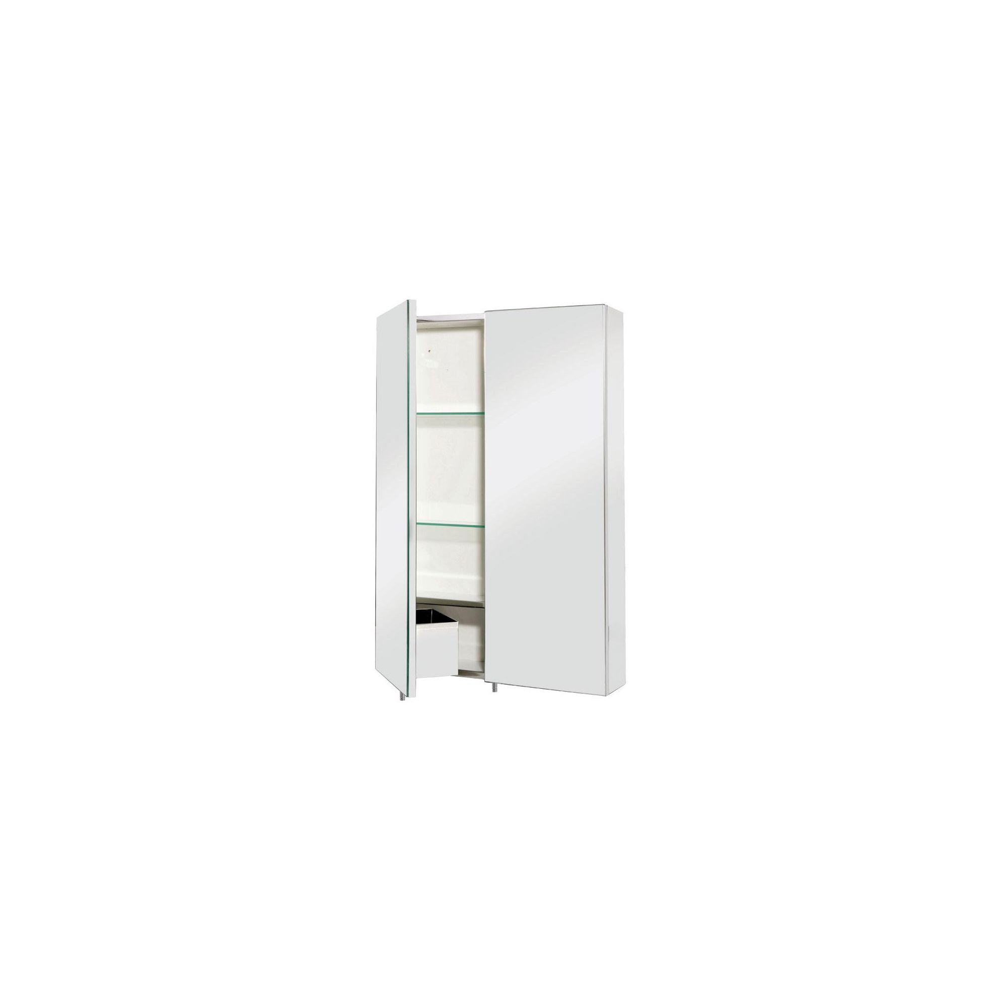 Croydex Colorado Large Double Door Stainless Steel Bathroom Cabinet