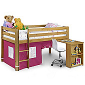 Happy Beds Wendy 3ft Kids Pink Pine Wood Sleep Station Orthopaedic Mattress