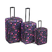 Set of 3 piece Pink Square Eva Luggage
